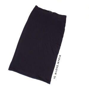 Black Express Knit Lined Skirt
